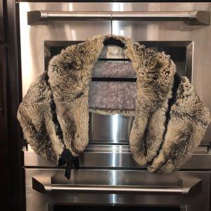 Real Chinchilla vintage fur shawl